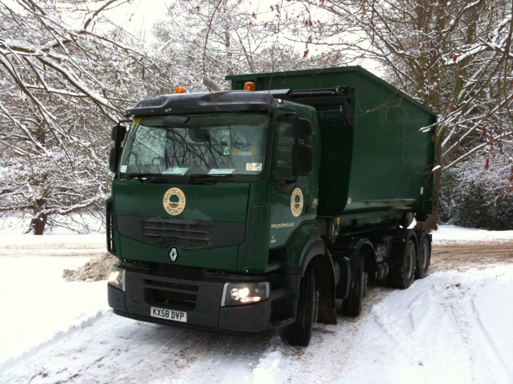 Our own fleet of lorries for wood chip deliveries
