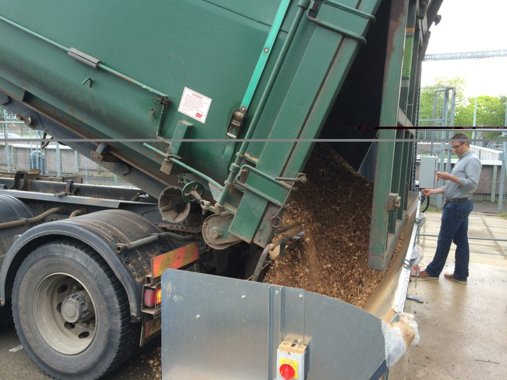Lorry showing our specially designed tipping system