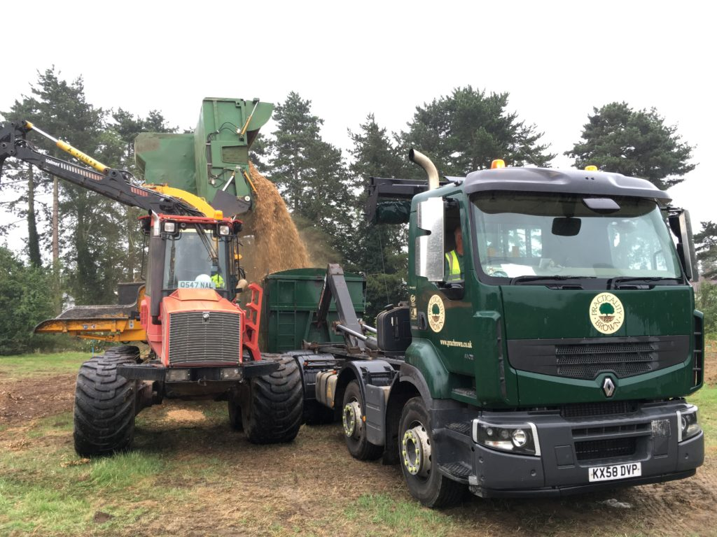 Whole tree chipping with our own machines